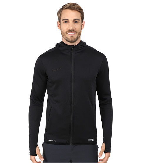 Nike - GPX Knit Full-Zip Hoodie (Black/Black) Men