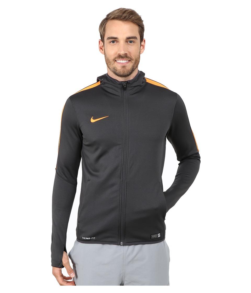 Nike - GPX Knit Full-Zip Hoodie (Anthracite/Total Orange/Total Orange) Men