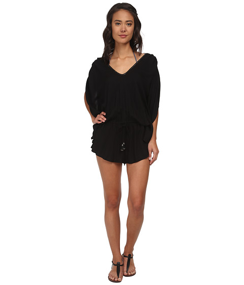 Seafolly - Bandwave Getaway Playsuit Cover-Up (Black) Women