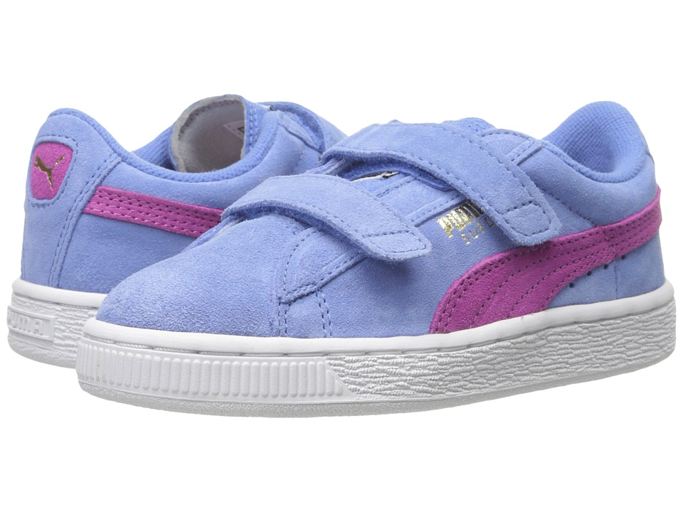 Puma Kids - Suede 2 Straps (Toddler/Little Kid/Big Kid) (Marina Blue/Meadow Mauve) Girls Shoes