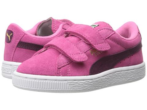 Puma Kids - Suede 2 Straps (Toddler/Little Kid/Big Kid) (Carmine Rose/Italian Plum) Girls Shoes