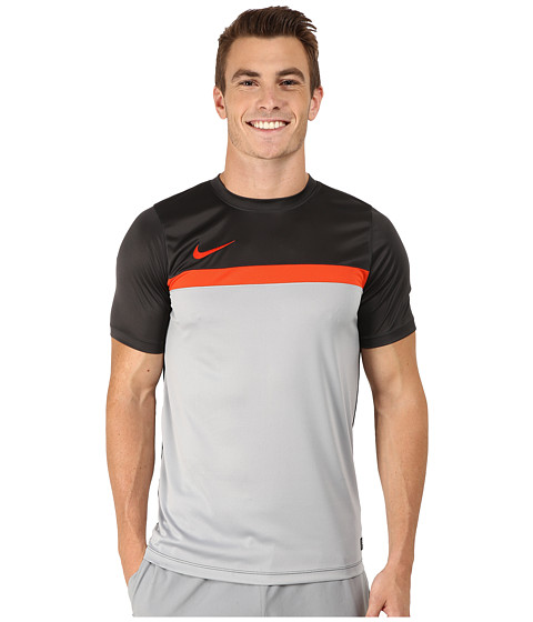 Nike - Academy S/S Training Top 1 (Anthracite/Team Orange/Wolf Grey/Team Orange) Men's T Shirt