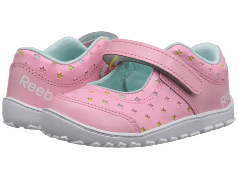 Reebok Kids - VentureFlex Mary Jane (Infant/Toddler) (Light Pink/White/Stinger Yellow/Cool Breeze) Girls Shoes