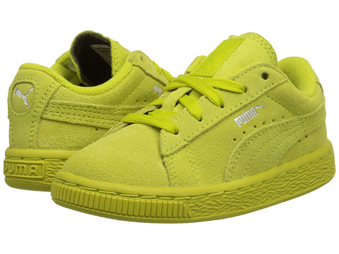 Puma Kids - Suede (Toddler/Little Kid/Big Kid) (Sulphur Spring/Puma Silver) Girls Shoes