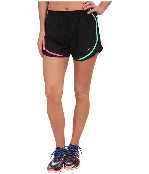 Nike - Tempo Short (Black/Black/Ghost Green/Matte Silver) Women's Workout