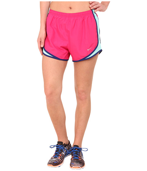 Nike - Tempo Short (Vivid Pink/Light Aqua/Deep Royal Blue/Matte Silver) Women's Workout