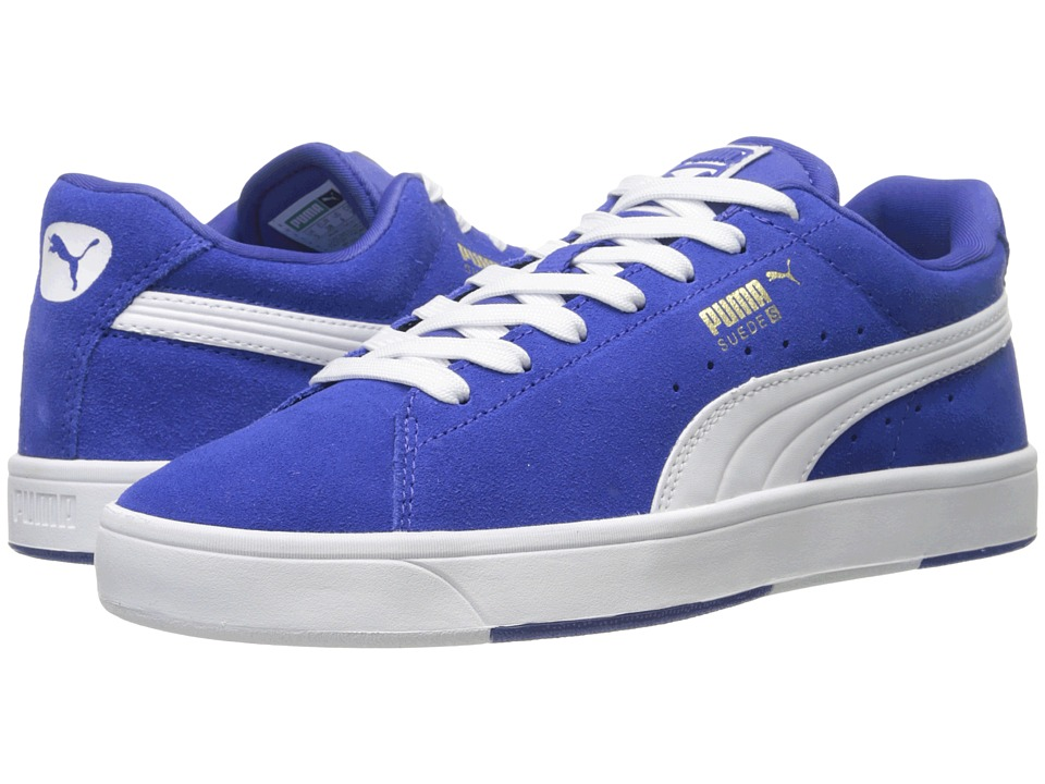 Puma Kids - Suede Skate Jr (Little Kid/Big Kid) (Surf The Web/White) Boys Shoes