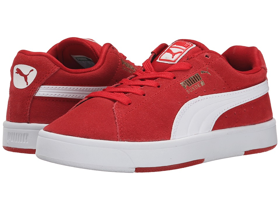 Puma Kids - Suede Skate Jr (Little Kid/Big Kid) (High Risk Red/White) Boys Shoes