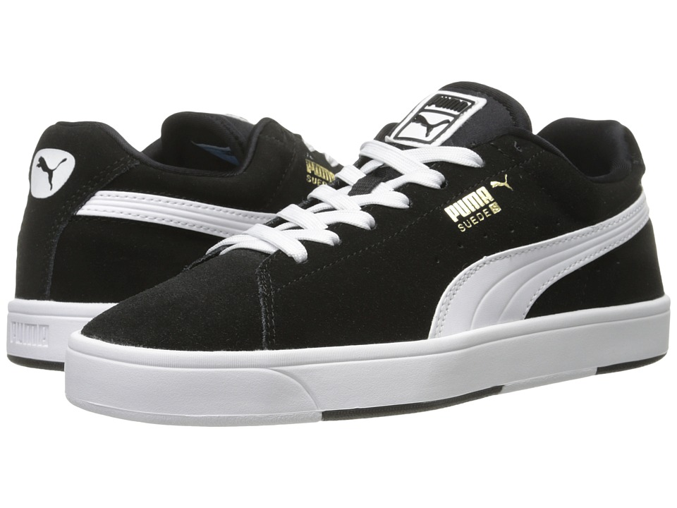 Puma Kids - Suede Skate Jr (Little Kid/Big Kid) (Black/White) Boys Shoes