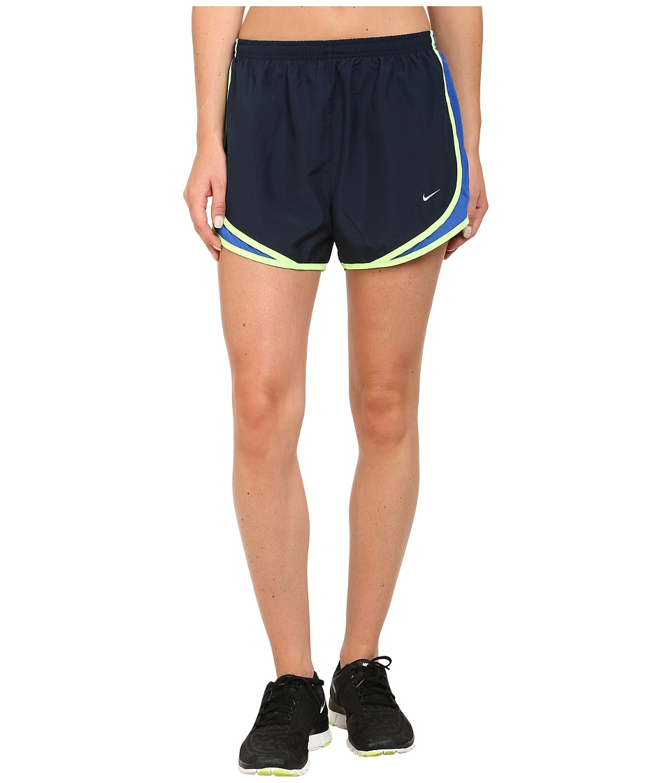 Nike - Tempo Short (Obsidian/Game Royal/Ghost Green/Matte Silver) Women's Workout