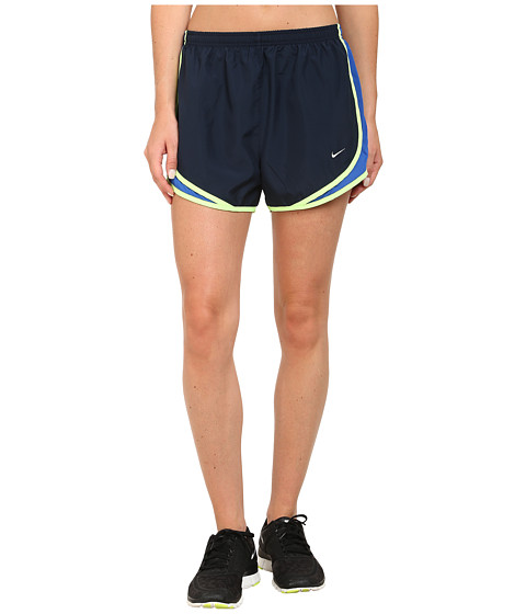 Nike - Tempo Short (Obsidian/Game Royal/Ghost Green/Matte Silver) Women