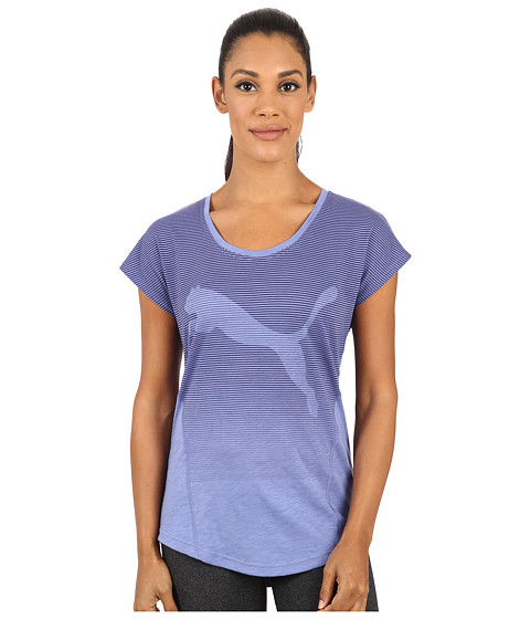 PUMA - New Silhouette Multi Tee (Bleached Denim) Women's T Shirt