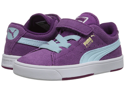 Puma Kids - Suede S (Toddler/Little Kid/Big Kid) (Grape Juice/Clearwater) Girls Shoes