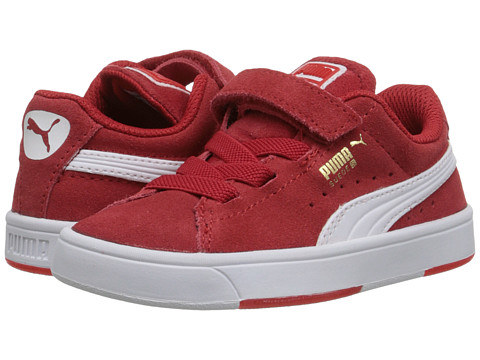 Puma Kids - Suede Skate V (Toddler/Little Kid/Big Kid) (High Risk Red/White) Boys Shoes