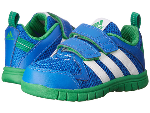 adidas Kids - STA Fluid 3 CF I (Toddler) (Blue/White/Signal Green) Boys Shoes