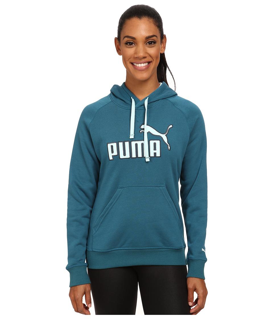 PUMA - No 1 Logo Hoodie (Blue Coral) Women's Sweatshirt