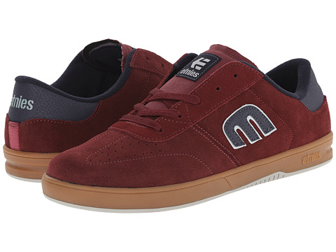 etnies - Lo-Cut (Burgundy/Gum) Men's Skate Shoes