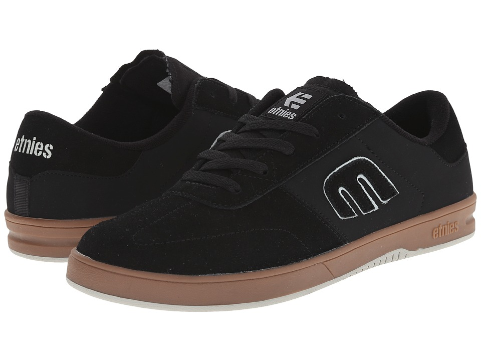 etnies - Lo-Cut (Black/Gum/Grey) Men's Skate Shoes