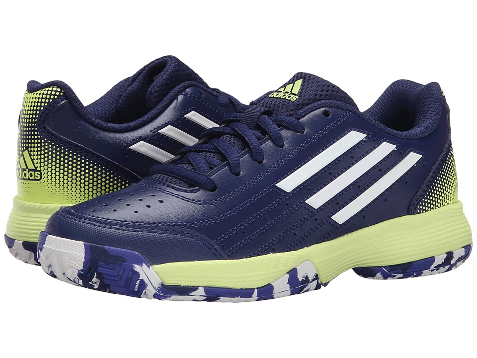 adidas Kids Sonic Attack K (Little Kid/Big Kid) (Midnight Indigo/White/Frozen Yellow) Boys Shoes