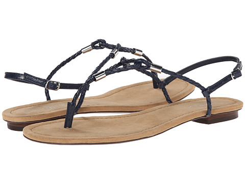 LAUREN by Ralph Lauren - Carmel (Modern Navy Kidskin) Women's Sandals