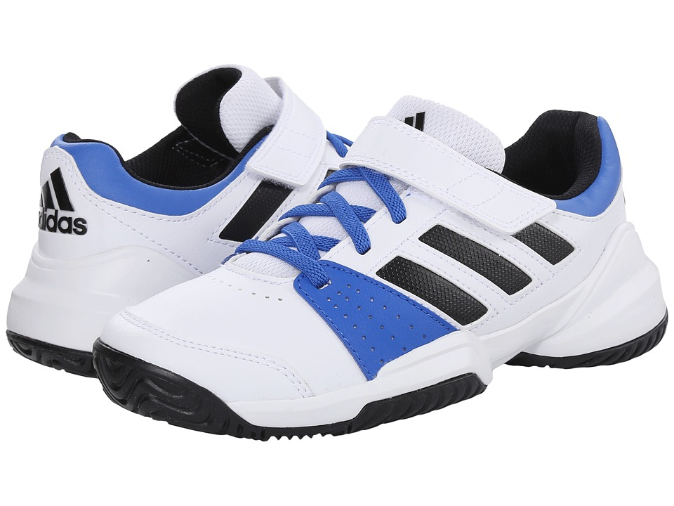 adidas Kids - Court EL C (Little Kid) (White/Black/Blue) Boys Shoes