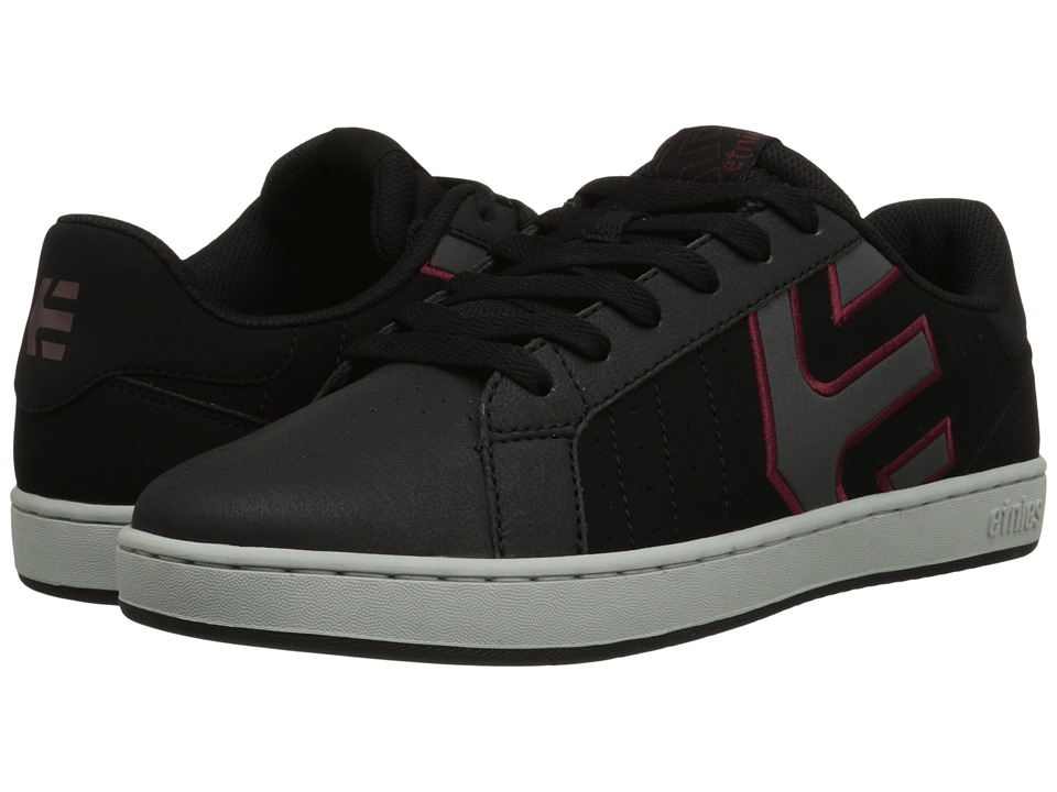 etnies - Fader LS (Black/Charcoal/Red) Men's Skate Shoes