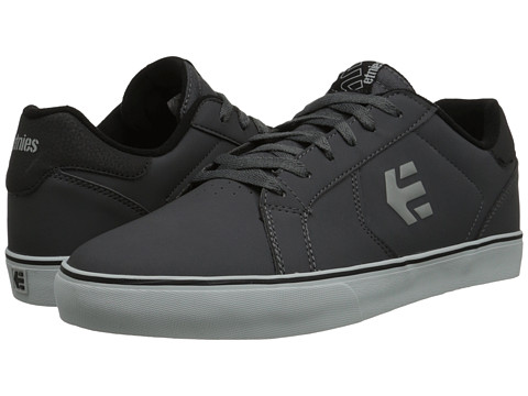 etnies - Fader LS Vulc (Grey/Grey/Black) Men's Skate Shoes