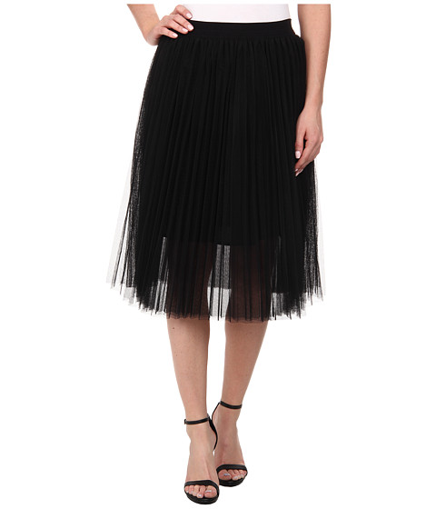 Sam Edelman - Pleated Tulle Skirt (Black) Women