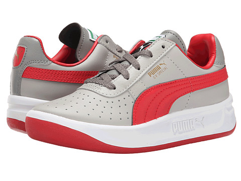 Puma Kids - GV Special Jr (Little Kid/Big Kid) (Drizzle/High Risk Red/Steel Gray) Boys Shoes