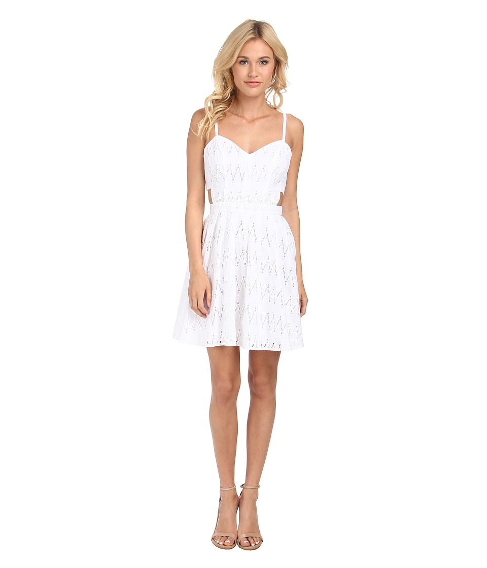 Sam Edelman Eyelet Dress w/ Side Cut Outs (Blanc) Women