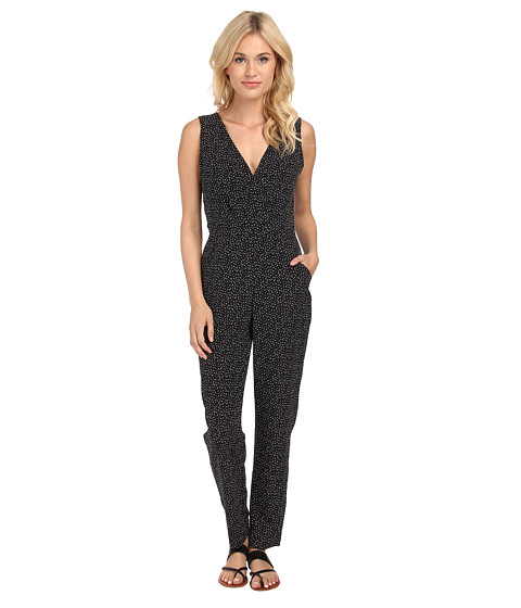 Sam Edelman - Back Wide Leg Jumpsuit (Black/White) Women
