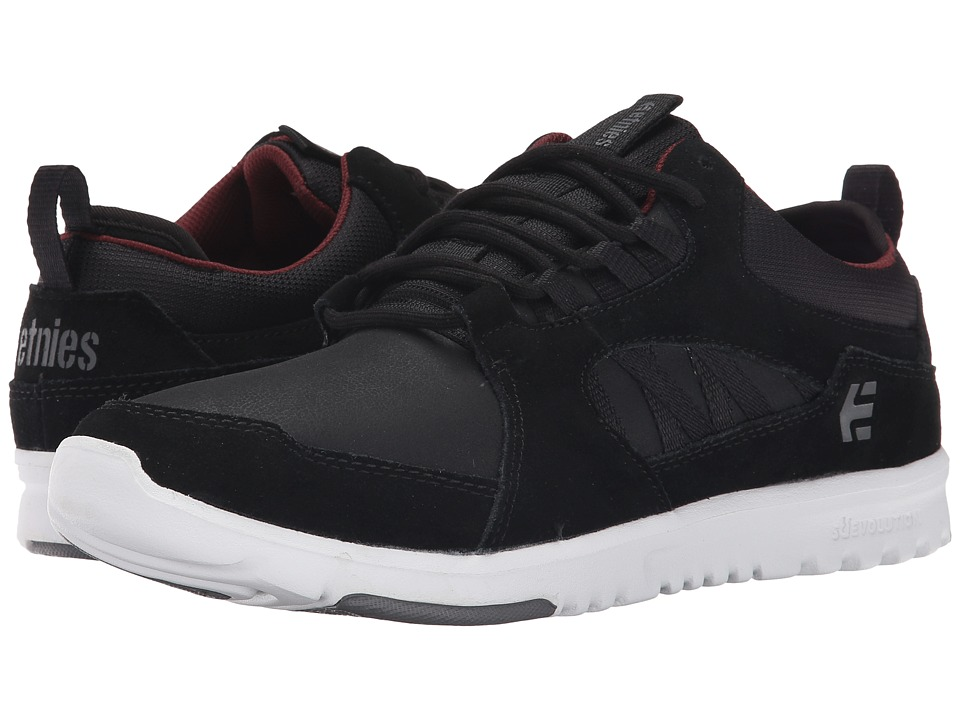 etnies - Scout MT (Black/White/Burgundy) Men