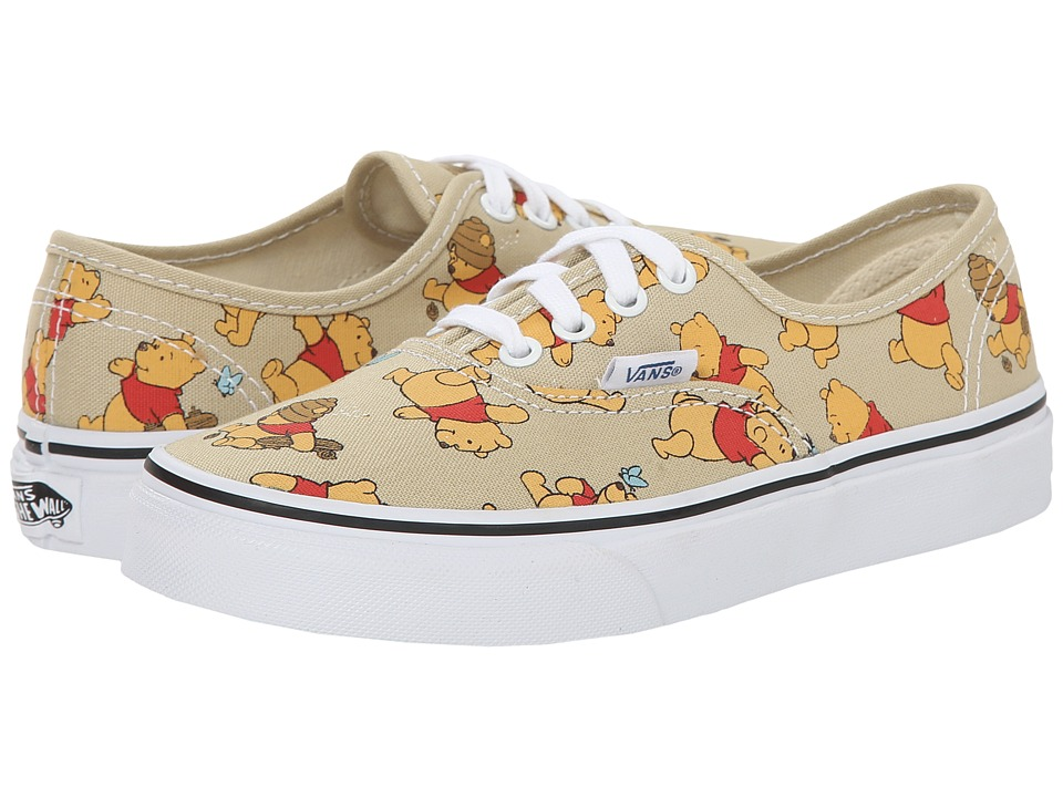 Vans Kids - Disney Authentic (Little Kid/Big Kid) ((Disney) Winnie The Pooh/Light Khaki) Kids Shoes