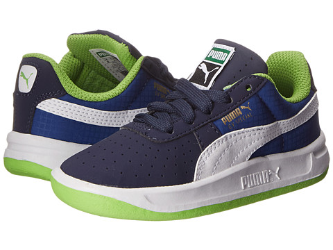 Puma Kids - GV Special Nubuck/Ripstop (Toddler/Little Kid) (Peacoat/White/Surf The Web) Boys Shoes