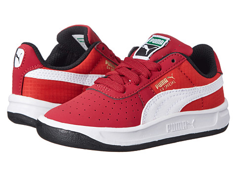 Puma Kids - GV Special Nubuck/Ripstop (Toddler/Little Kid) (Rio Red/White/High Risk Red) Boys Shoes