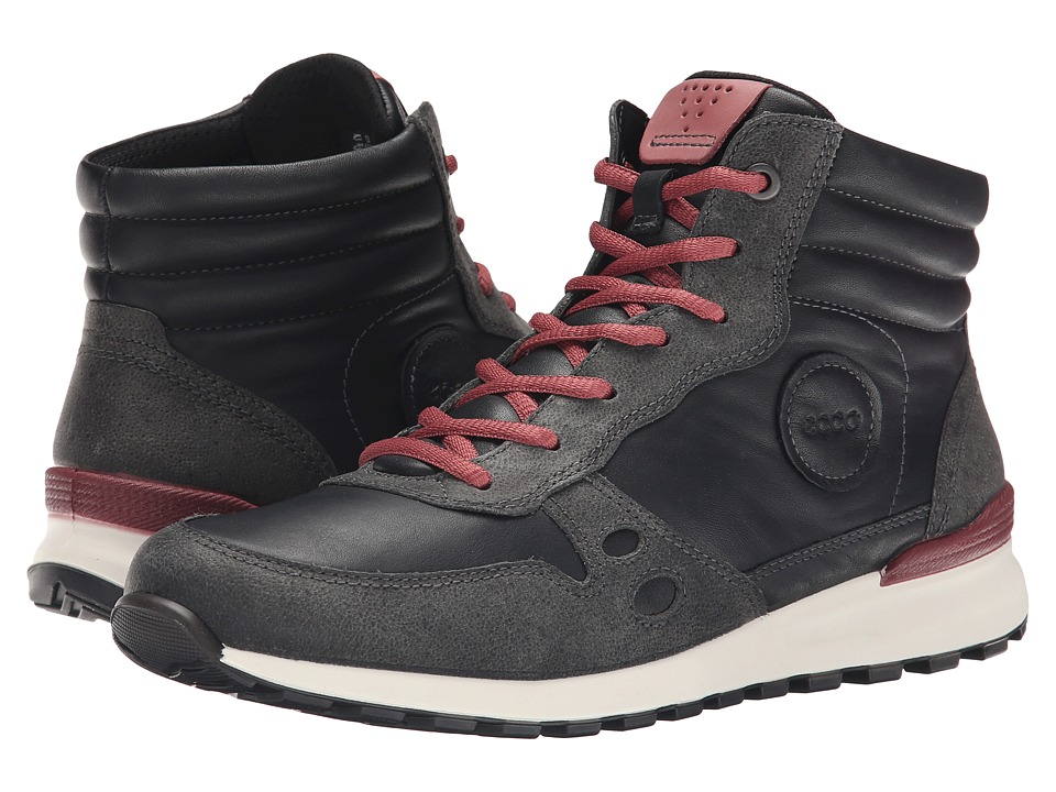 ECCO - CS14 Casual Bootie (Dark Shadow/Black/Petal) Women's Lace up casual Shoes