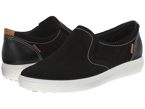 ECCO - Soft VII Slip-On (Black/Black) Women's Slip on Shoes