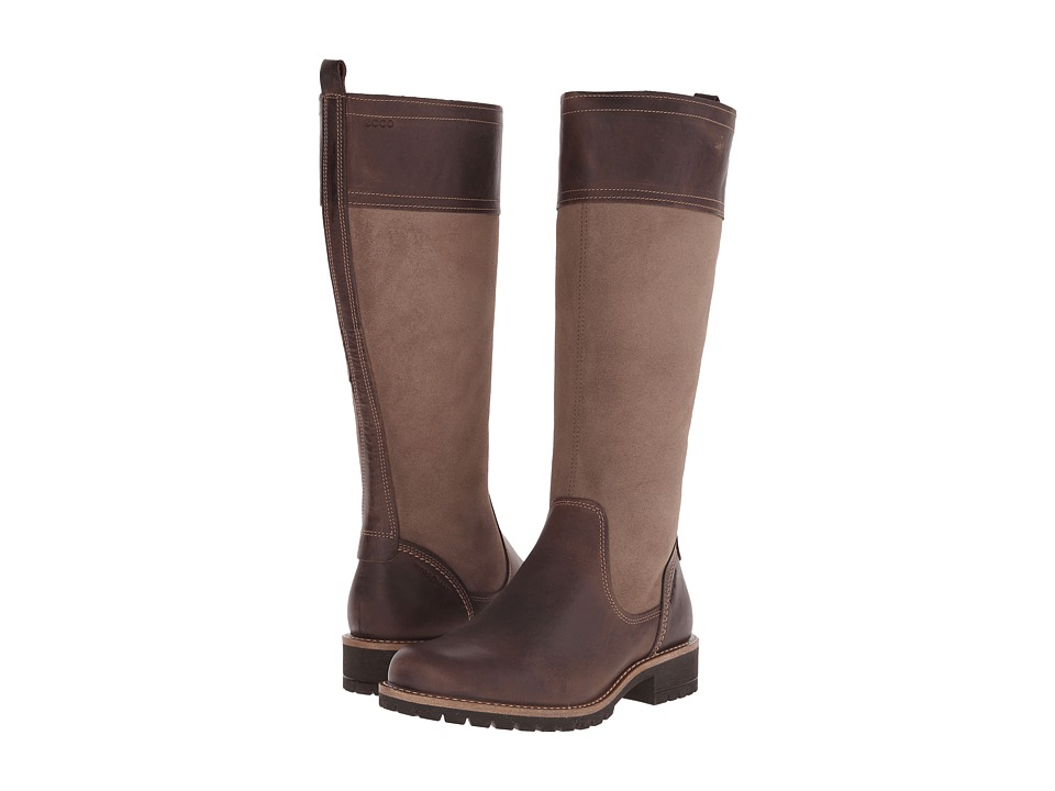 ECCO Elaine Tall Boot (Cocoa Brown/Stone) Women
