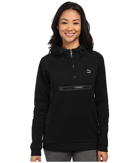 PUMA - 1/2 Zip Hoodie (Black) Women's Sweatshirt