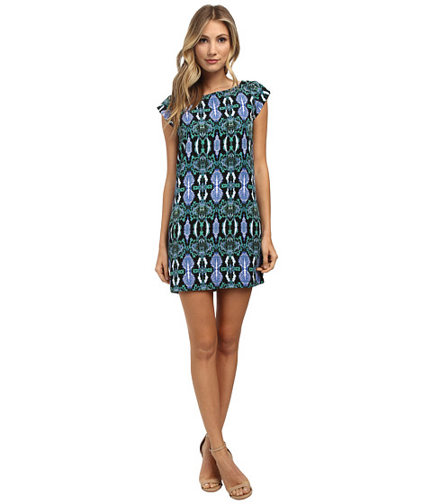 Sam Edelman - Shift Dress w/ Trimming (Multi) Women's Dress