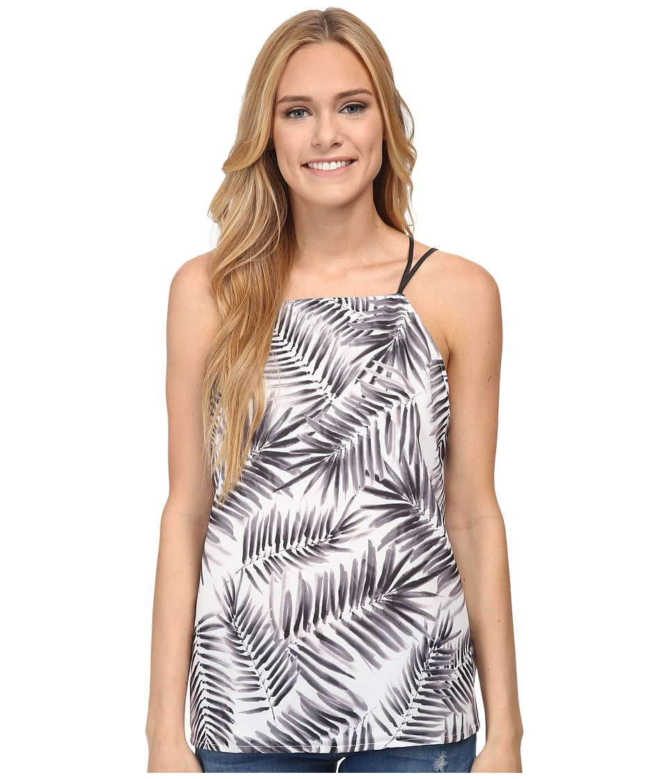 Sam Edelman - Palm Print Swing Tank (Black) Women's Sleeveless