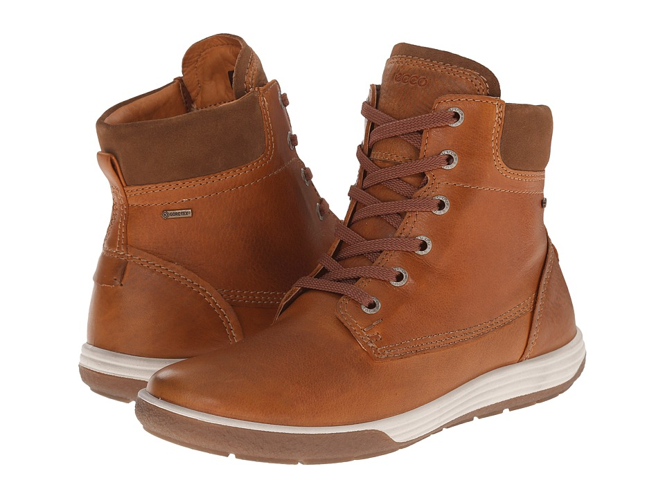 ECCO - Chase II GORE-TEX Boot (Amber/Amber) Women's Lace-up Boots