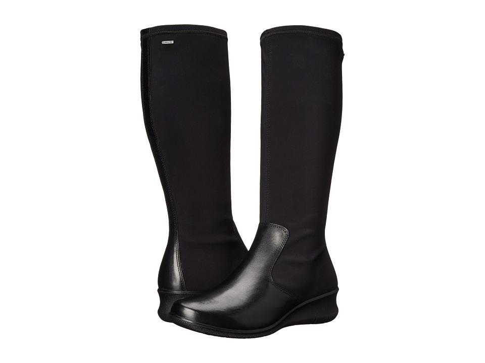 ECCO Babett 15 GORE-TEX(r) Tall Boot (Black/Black) Women