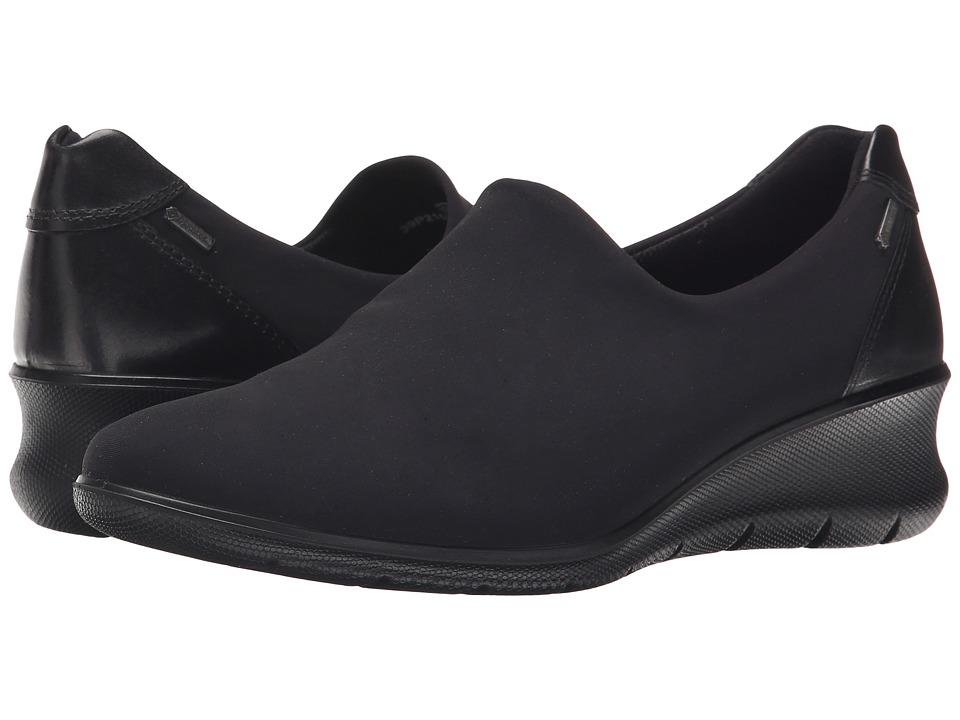 ECCO - Babett 45 GORE-TEX Slip-On (Black/Black) Women's Slip on Shoes