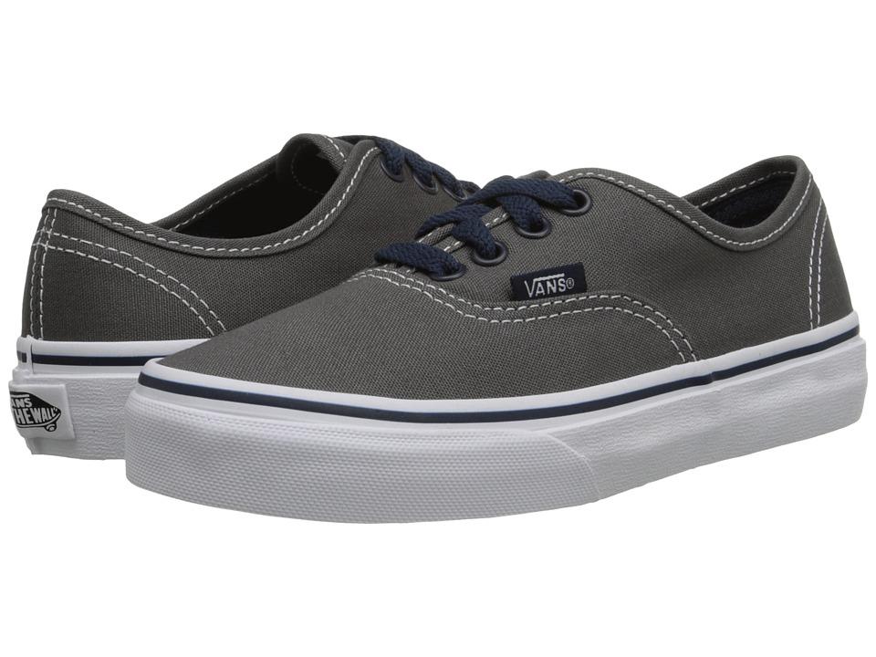 Vans Kids - Authentic (Little Kid/Big Kid) ((Pop) Pewter/Dress Blues) Boys Shoes