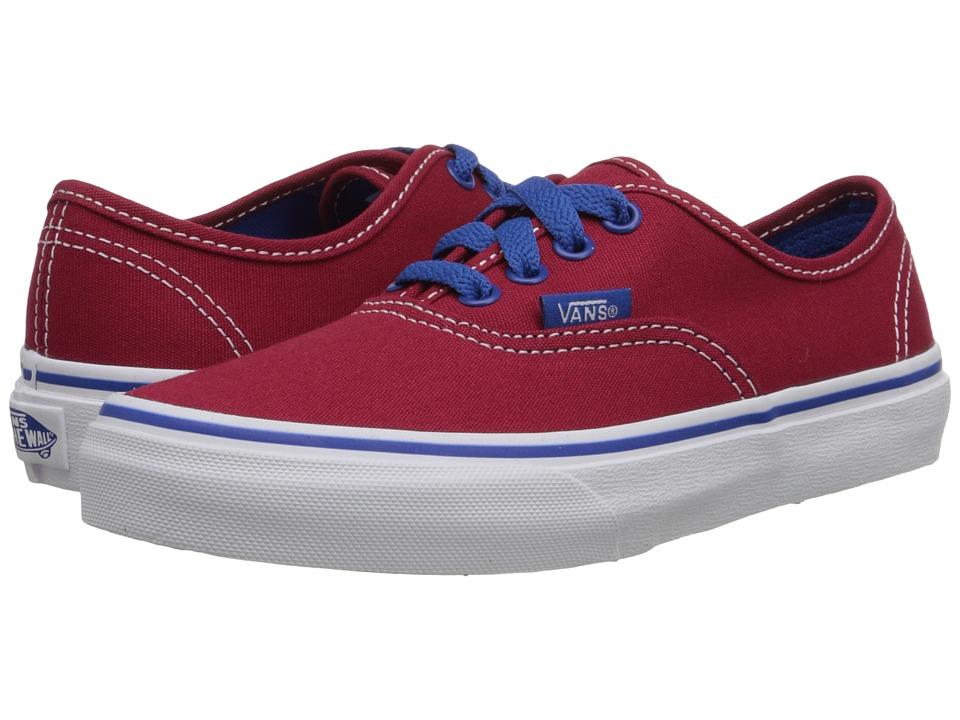 Vans Kids - Authentic (Little Kid/Big Kid) ((Pop) Jester Red/Blue) Boys Shoes