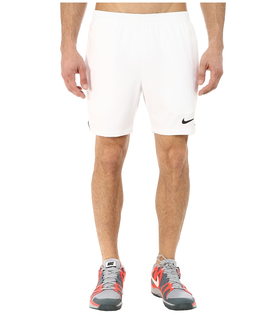 Nike - Court 7 Shorts (White/Black/White/Black) Men's Shorts