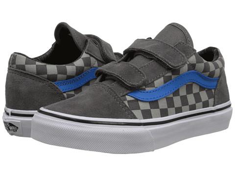 Vans Kids - Old Skool V (Little Kid/Big Kid) ((Checkerboard) Pewter/Neutral Gray) Boys Shoes
