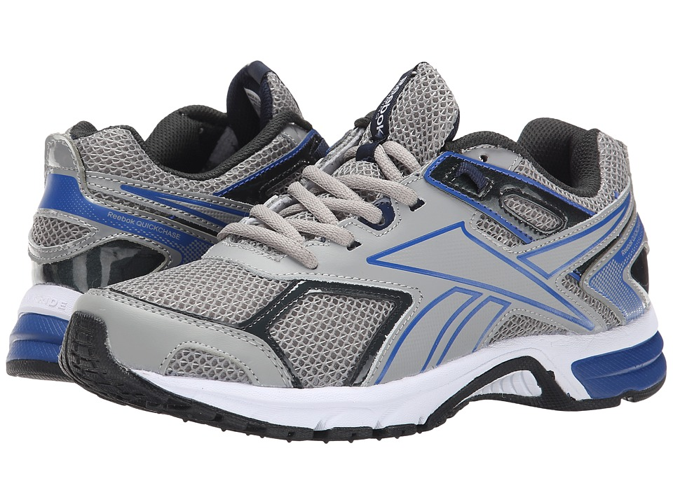 Reebok - Quick Chase (Flat Grey/Collegiate Royal/Gravel/White) Men's Running Shoes