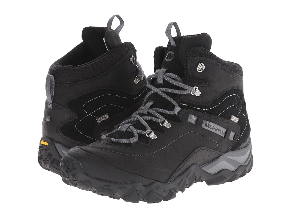 Merrell - Chameleon Shift Traveler Mid Waterproof (Black) Women's Hiking Boots
